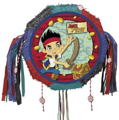 Unique Jake and the Never Land Pirates Pinata Pull String Traditional Pinata(Multicolor, Pack of 1)