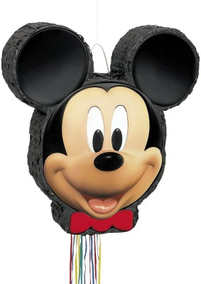 Unique Mickey Mouse Pinata, Pull String Pull String Pinata(Multicolor, Pack of 1)