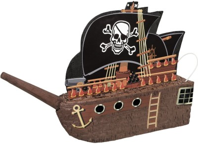 Unique Pirate Ship Pinata Traditional Pinata(Multicolor, Pack of 1)
