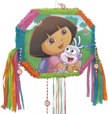 Dora the Explorer Unique Dora the Explorer Pinata with Pop-Out Pull String Pinata(Multicolor, Pack of 1)
