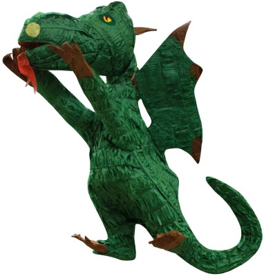 Fun Express Dragon Pinata Traditional Pinata(Green, Pack of 1)