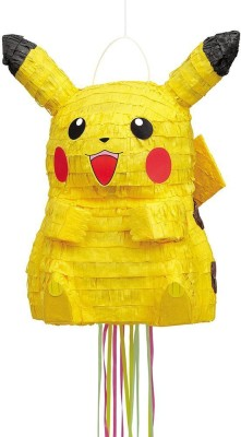 Unique Pokemon Pikachu 3D Licensed Pull Piñata Pull String Pinata(Multicolor, Pack of 1)