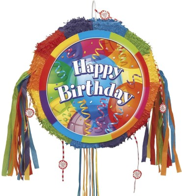 Unique Brilliant Balloons Pinata Pull String Pinata(Multicolor, Pack of 1)