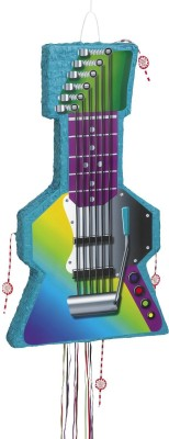 Unique Rock Guitar Pinata, Pull String Pull String Pinata(Multicolor, Pack of 1)