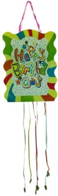 Smartcraft Happy Birthday -Stripes Pull String Pinata(Multicolor, Pack of 1)