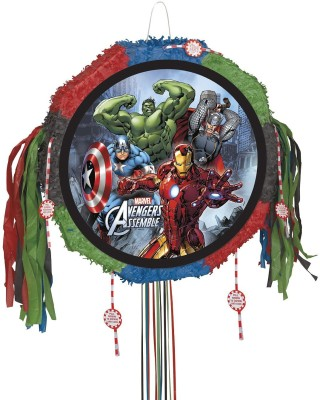 Unique Marvel Avengers Pinata, Pull String Pull String Pinata(Multicolor, Pack of 1)