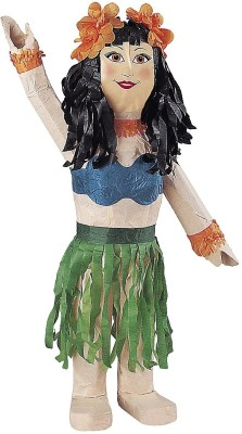 Unique Hula Girl Pinata Traditional Pinata(Multicolor, Pack of 1)