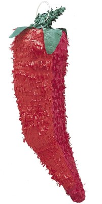 Unique 3D Chili Pepper Pinata, Assorted Colors Pull String Pinata(Multicolor, Pack of 1)
