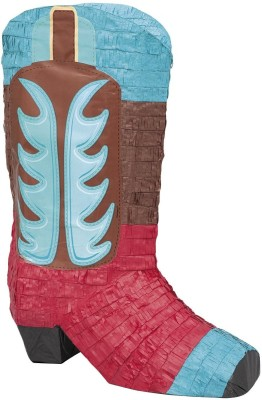 Unique Cowboy Boot Pinata Traditional Pinata(Multicolor, Pack of 1)