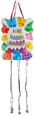 Smartcraft Happy Birthday -Birthday Cake Pull String Pinata