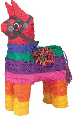 Unique Rainbow Donkey Pinata Traditional Pinata(Multicolor, Pack of 1)