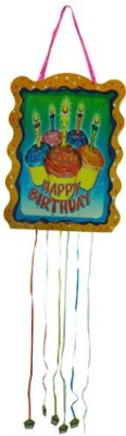 Smartcraft Happy Birthday -Cup Cakes Pull String Pinata