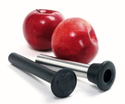 Norpro 5103 Stainless Steel Apple Corer With Plunger Pitter