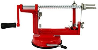 Loopy Apple Apple Peeler Corer Slicer Stainless Steel Blades Vegetable Spiral Slicer Red Pitter