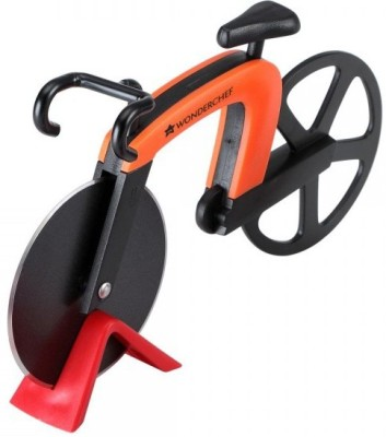 Wonderchef Bike Pizza Cutter Orange Wheel Pizza Cutter