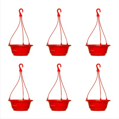 Planters Red Karishma Hanging Plant Container Set