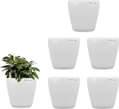 Yuccabe Italia Stoic White Self Watering Plant Container Set