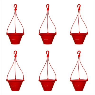 Planters Red Nursery Hanging Plant Container Set