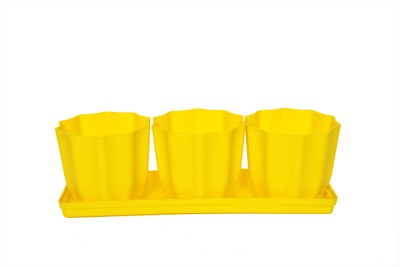 Planters Plant Container Set(Pack of 3, Plastic)