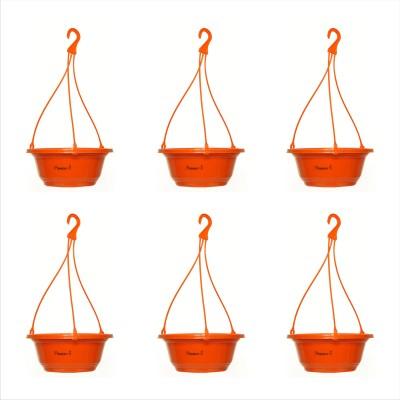 Planters Orange Karishma Hanging Plant Container Set