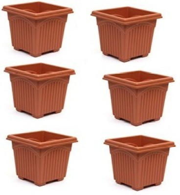 Easy Gardening 8 Inch Square Plant Container Set