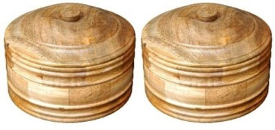 Onlineshoppee Wooden Handcrafted Chapati Box Plant Container Set