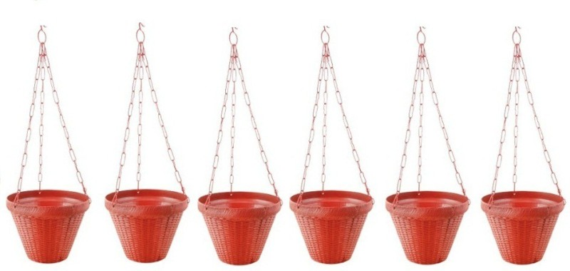 Planters GARDEN HANGING POT Plant Container Set(Pack of 6, Plastic)