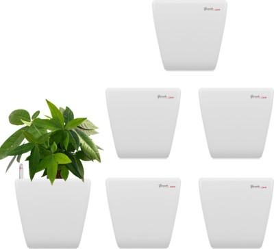 Yuccabe Italia Stella White Self Watering Plant Container Set