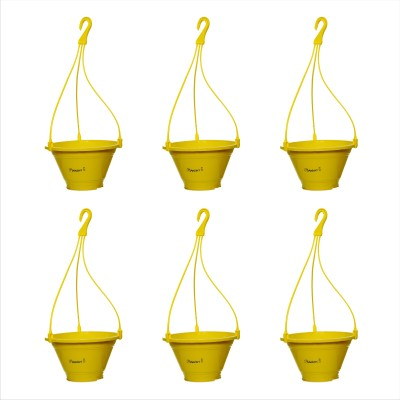 Planters Yellow Nursery Hanging Plant Container Set