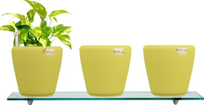 Yuccabe Italia Combo for 3 Stoic Yellow Self Watering planter Plant Container Set