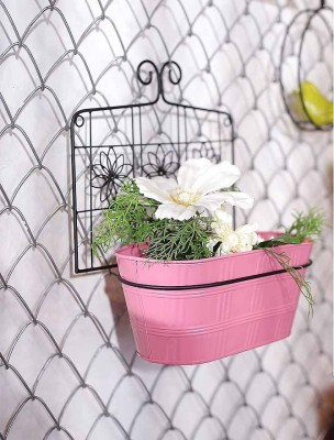 Color Palatte Plant Container(Metal, External Height - Stand - 7.2 cm, Planter - 5.2 cm)
