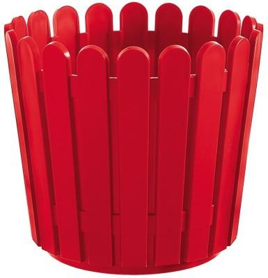 Shrih Red Plastic 30cm Round Planter Plant Container