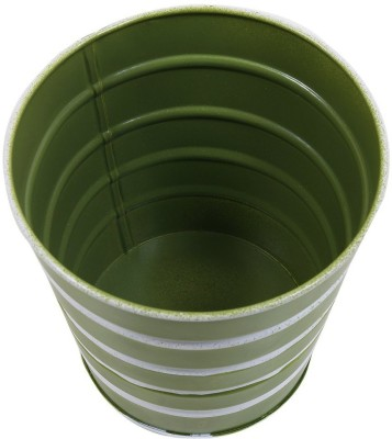Shrih Green Bucket Shaped Handcrafted Metal Planter Plant Container