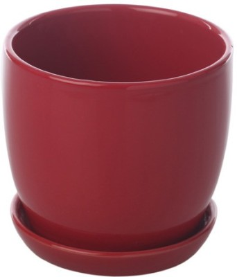 Gaia Pottery Gaia Red Ceramic Glazed Table Top Planter Plant Container