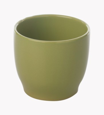 Gaia Pottery Gaia Green Ceramic Glazed Table Top Planter Plant Container