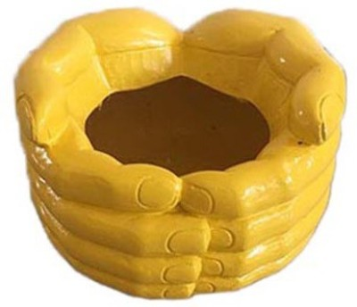 Garden Jewels Hand Planter Yellow Plant Container