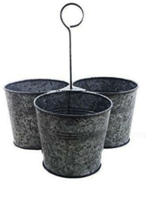 Shrih Grey Rustic Finish Hanging Planter Set of 3 Pcs Plant Container