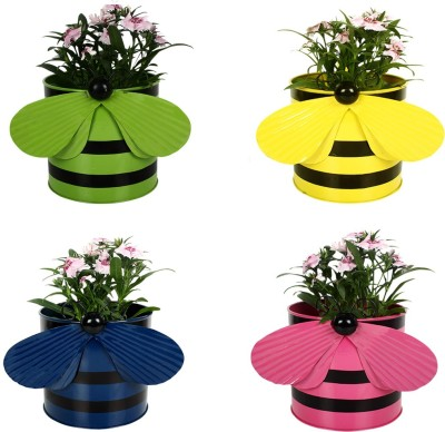 TrustBasket Set of 4 - Bee planters Plant Container