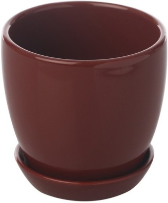 Gaia Pottery Cermaic Glazed Table Top Planter Plant Container