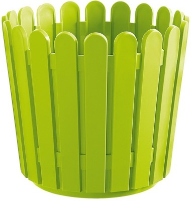 Shrih Green Plastic 30cm Round Planter Plant Container