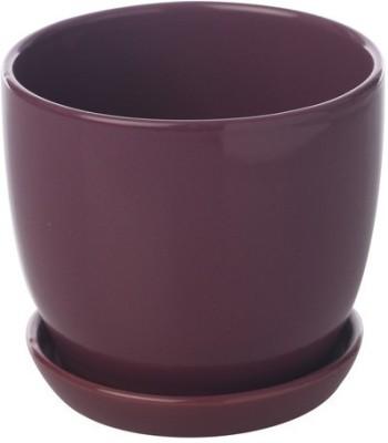 Gaia Pottery Gaia Wine Ceramic Glazed Table Top Planter Plant Container