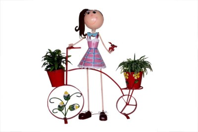 Wonderland Girl On Bicycle Plant Container