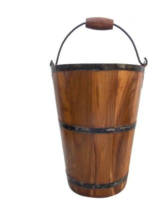Indune Wooden Bucket - Medium Plant Container