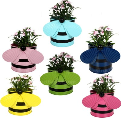 TrustBasket Set of 6 - Bee planters Plant Container