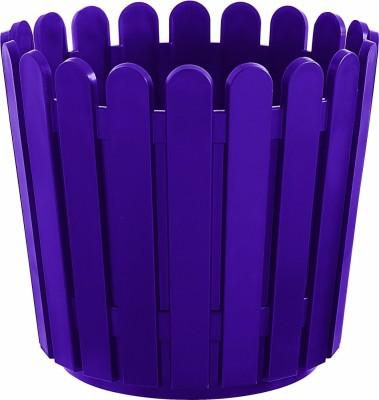 Shrih Purple Plastic 30cm Round Planter Plant Container