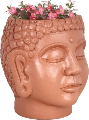 TrustBasket Buddha Head Planter - Terracotta Handmade Plant Container