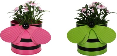 TrustBasket Set of 2 - Bee planters Plant Container