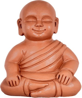 TrustBasket Baby Buddha Garden Decor - Terracotta Handmade Plant Container