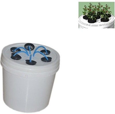 GZ Green Smart Aeroponic 6 plants growing planter kit with water drip controller system using water pump Plant Container