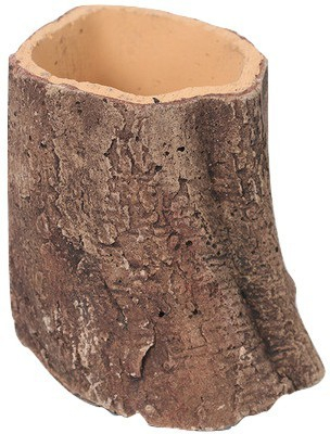 Gaia Pottery Gaia Woodlike planter - Slanted Small Plant Container